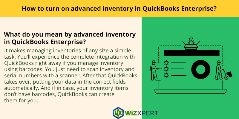 How to turn on advanced inventory in QuickBooks Enterprise