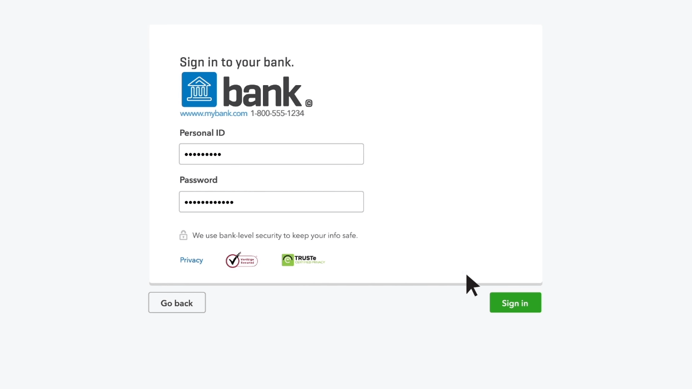 Connecting your bank account with QuickBooks