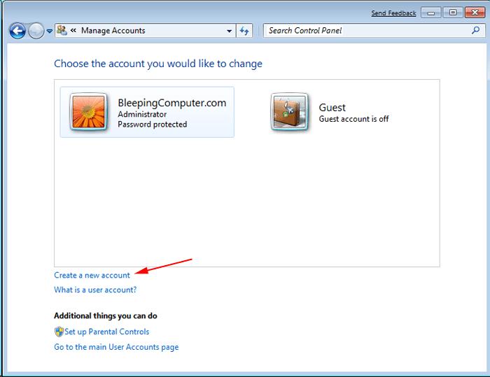 Create a new Windows Admin User