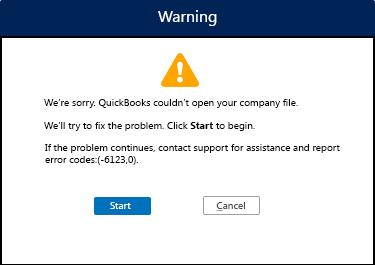 QuickBooks Error code 6123, 0