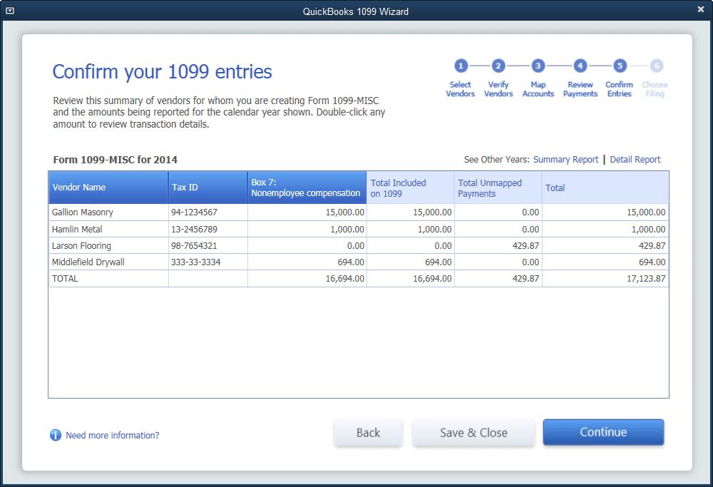 QuickBooks 1099 Form