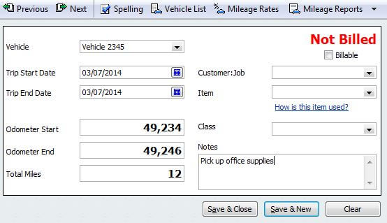 Record Vehicle Mileage in QuickBooks