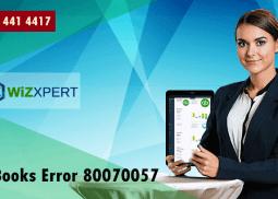 Fix QuickBooks Error 80070057 When You Tries To Open a Company File