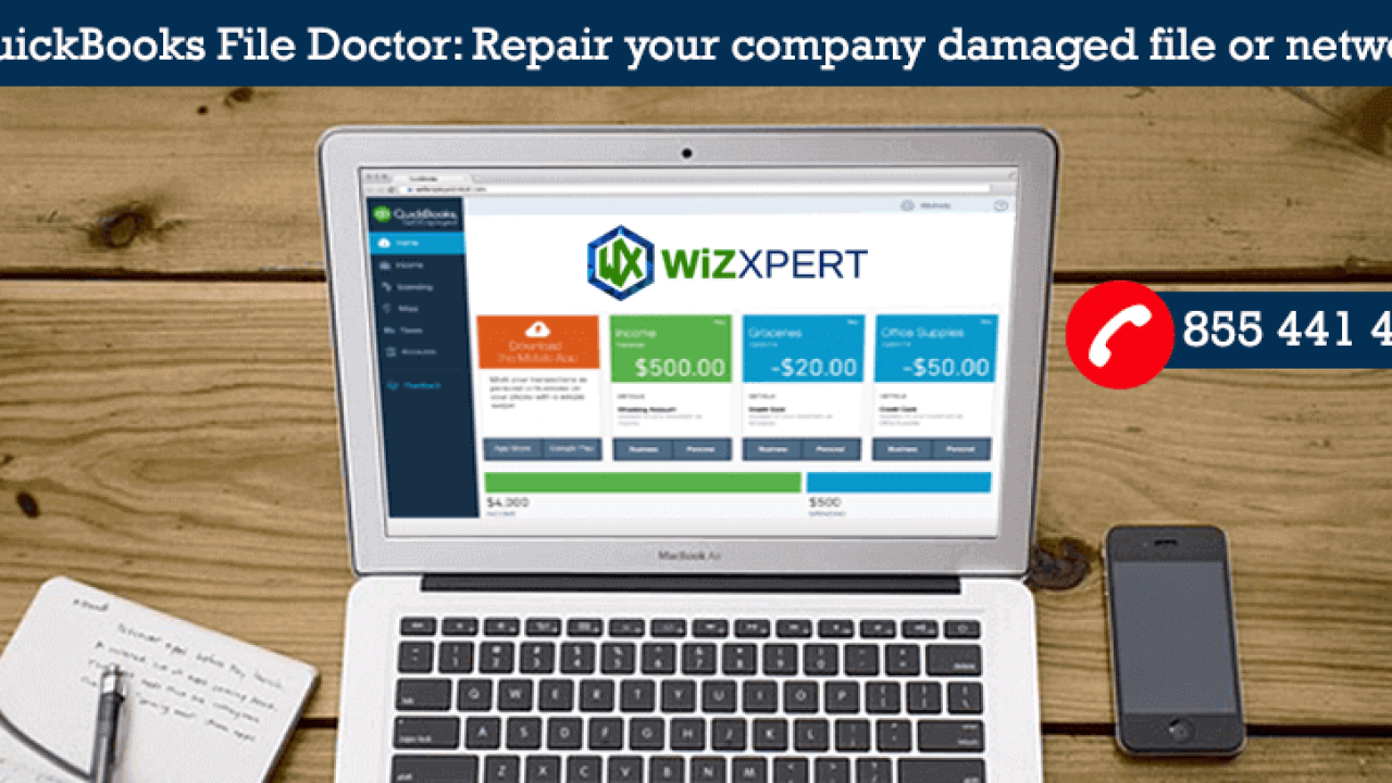 QuickBooks File Doctor: Repair your damaged file or network