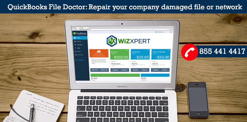 QuickBooks File Doctor Repair your company damaged file or network 1