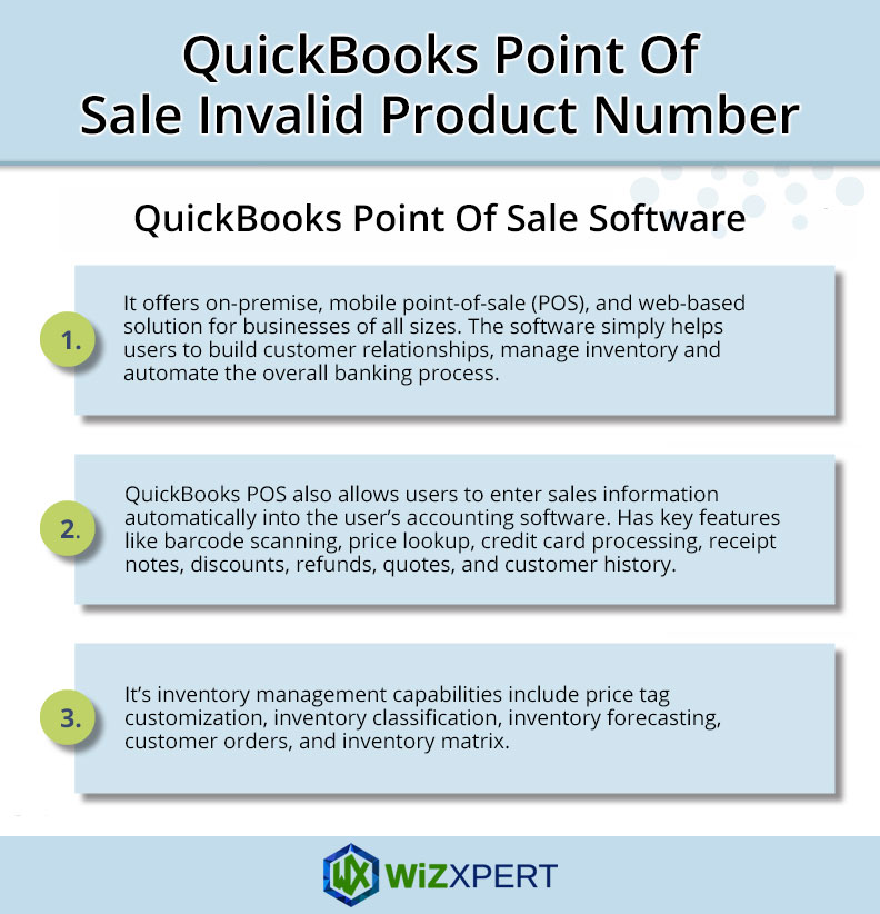 QuickBooks Point Of Sale Invalid Product Number: Error Code