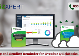 Viewing and Sending Reminder for Overdue QuickBooks Invoice