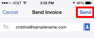 Create and Email an Invoice in Mobile