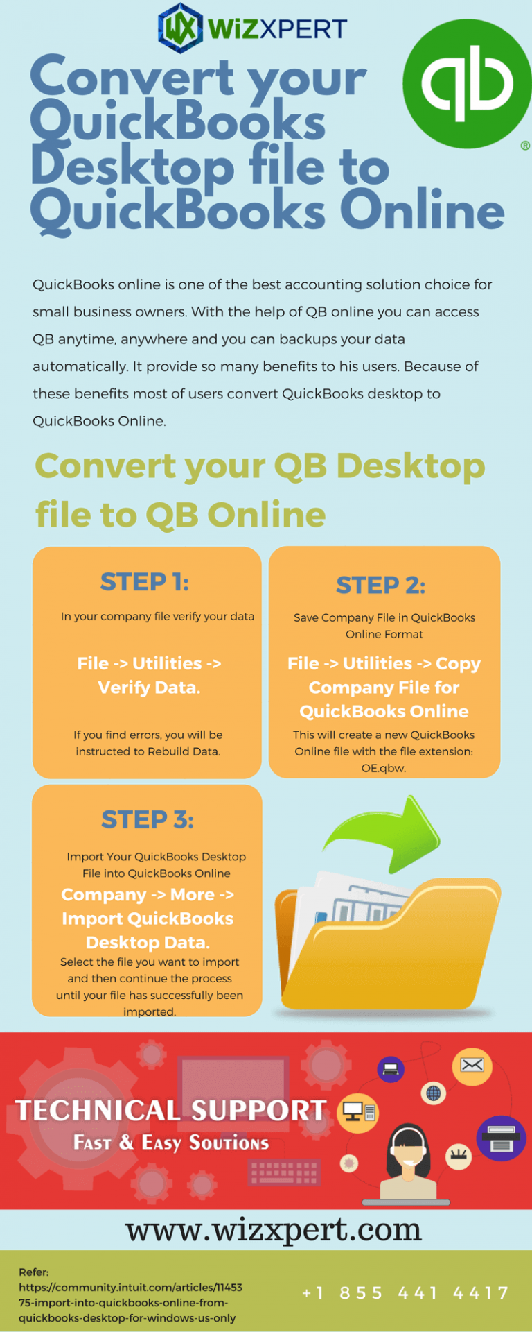 Convert QuickBooks files into QuickBooks Online