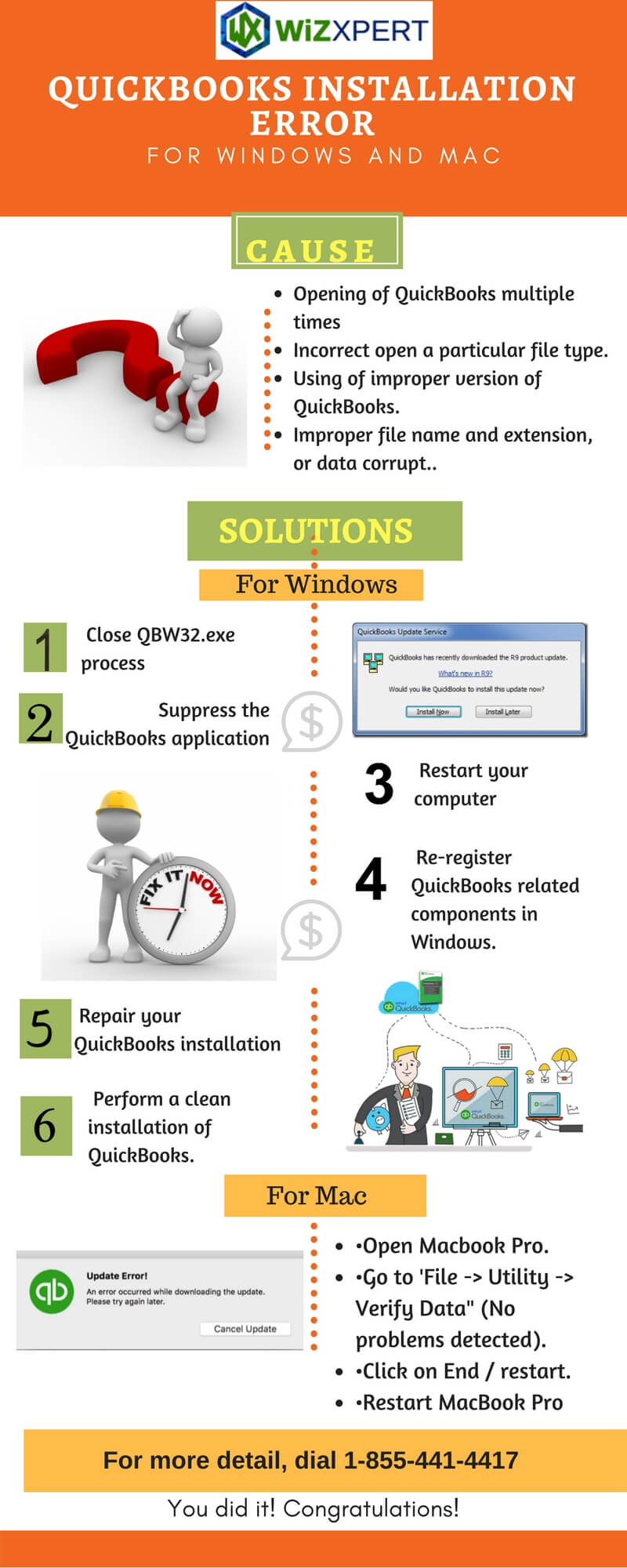 QuickBooks Installation Error for Windows and Mac [Infography]