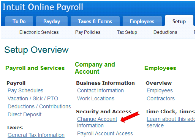 Change QuickBooks Online Password and User id