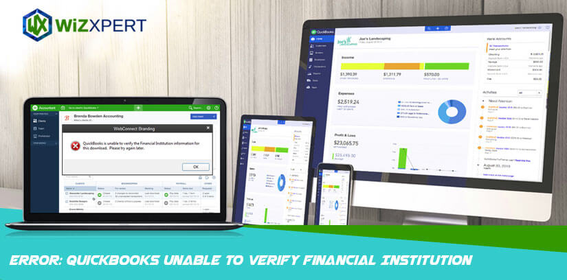 Error: QuickBooks Unable To Verify Financial Institution