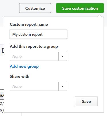Create a memorized report