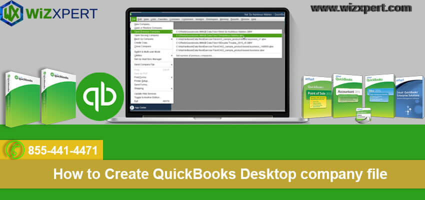 How to Create QuickBooks Desktop company file