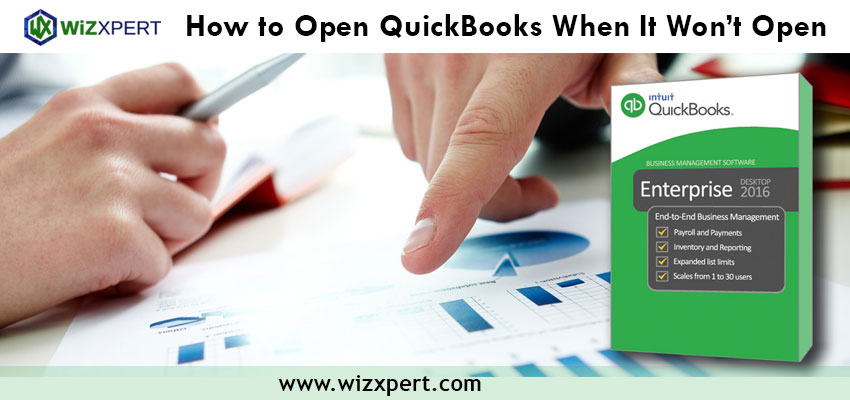How to Open QuickBooks When It Won't Open