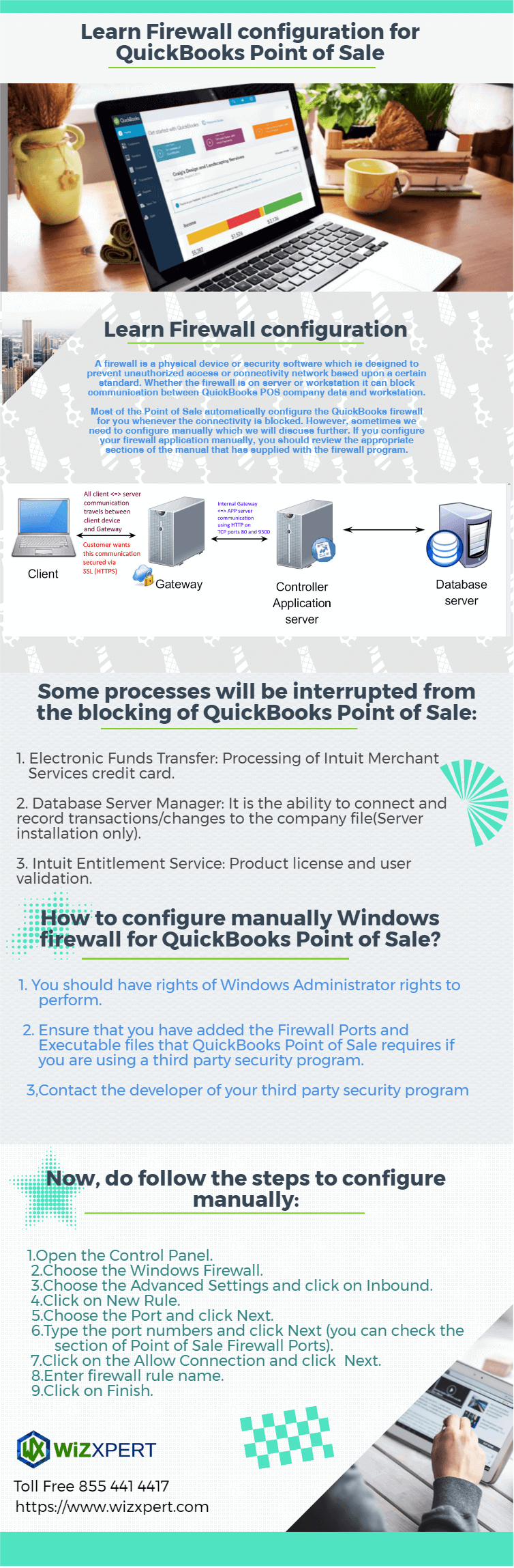 Learn Firewall Configuration for QuickBooks POS Infographic