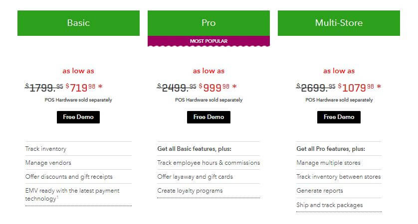 QuickBooks Desktop Point of Sale Comparison