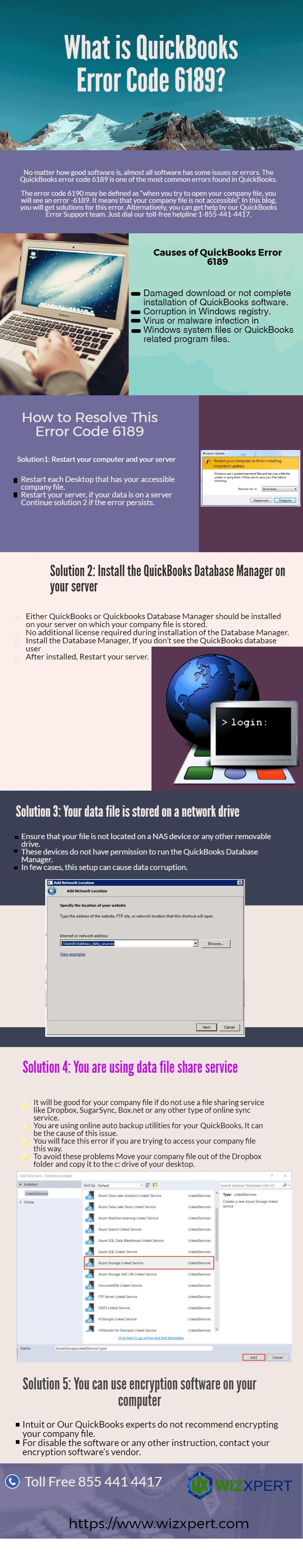 QuickBooks Error Code 6189 Infographic