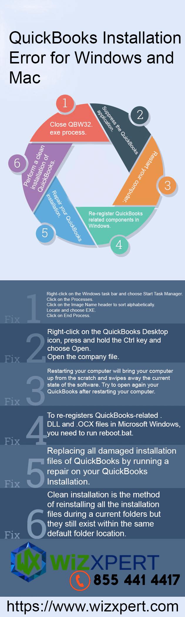 QuickBooks Installation Error for Windows & Mac Infographic