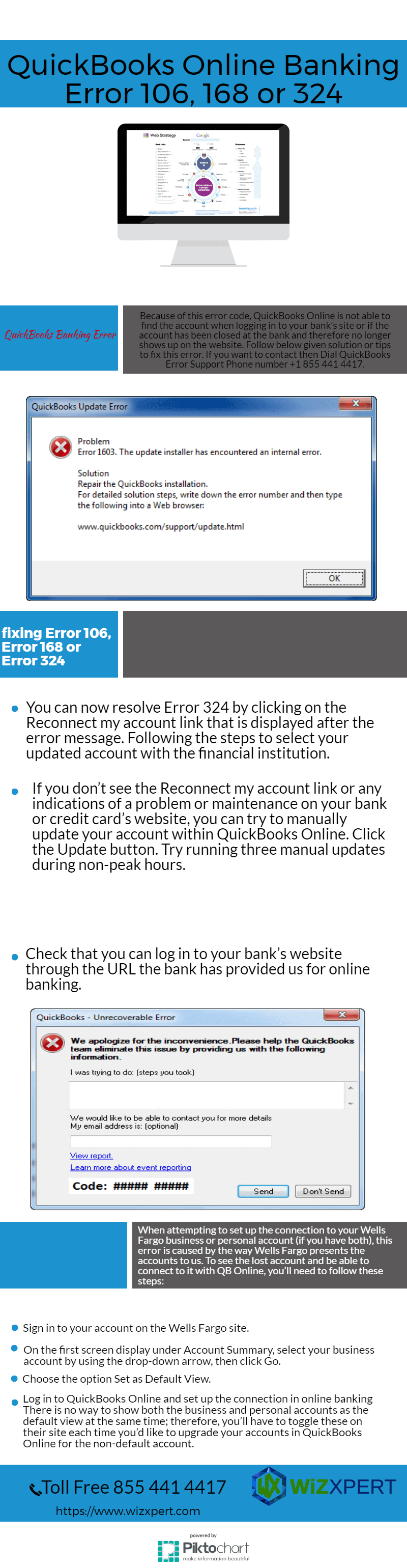 Fix QuickBooks Online Banking Error 106,168 or 324 ...