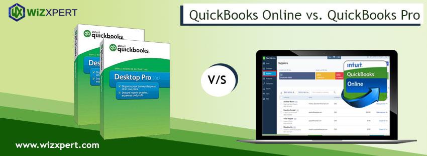 QuickBooks Online vs. QuickBooks Pro