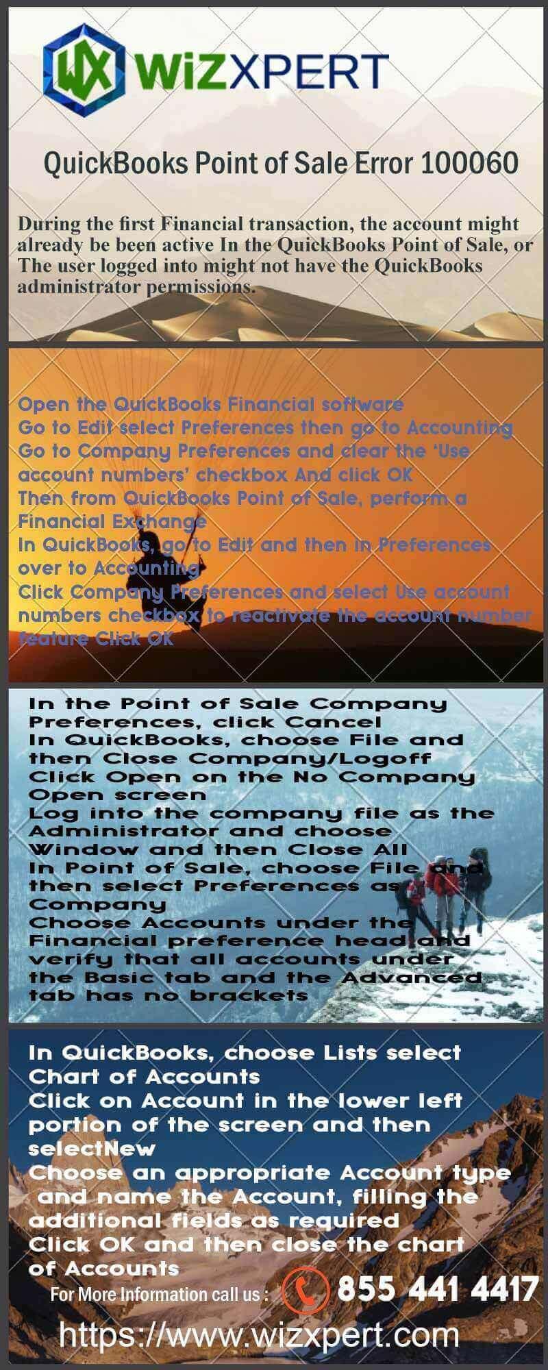 QuickBooks Point of Sale Error 100060 Infographics