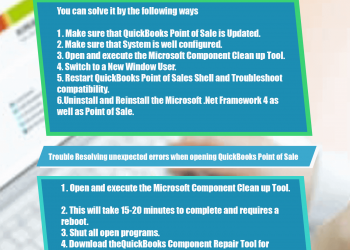 QuickBooks Point of Sale Unexpected Errors Resolution Infographics