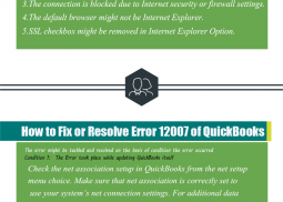 QuickBooks Error Code 12007 Infographic