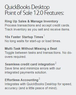 features in QuickBooks Point of Sale 12.0
