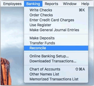 How to Reconcile in QuickBooks for Mac Operating System 1
