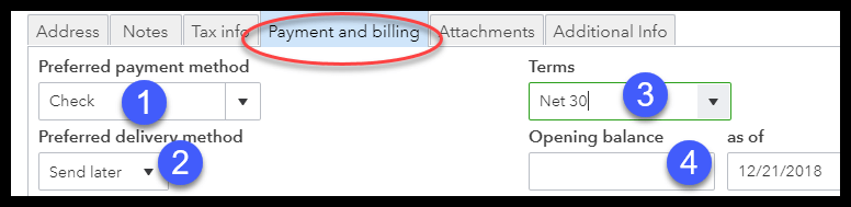 Customer Payment and Billing Information in QuickBooks Online