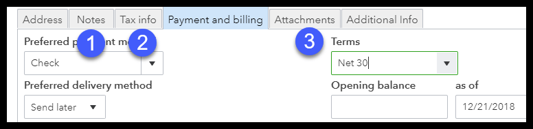 Notes, Tax Information, and Attachments in QuickBooks Online Customer Profile