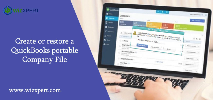 Create or Restore a QuickBooks Portable Company File