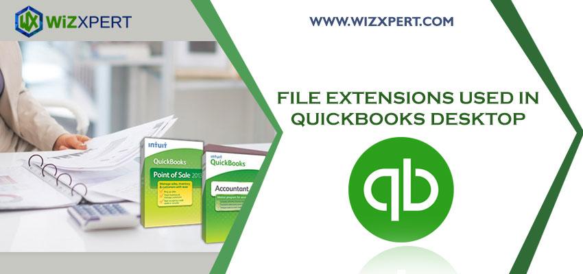 File Extensions used in QuickBooks Desktop