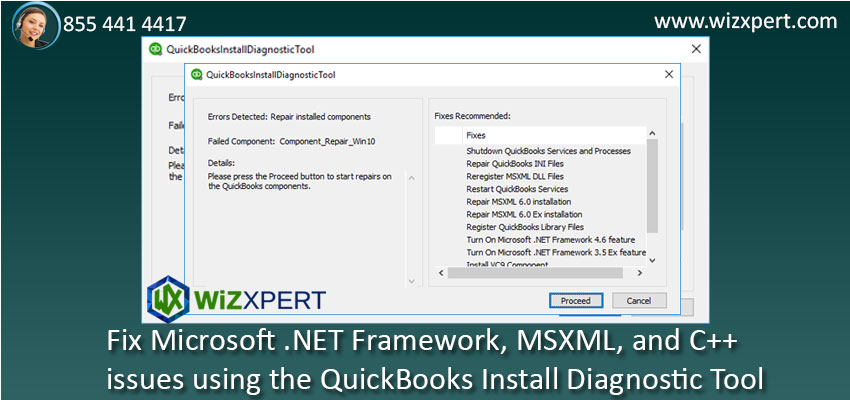Fix Microsoft NET Framework MSXML and C issues using the QuickBooks Install Diagnostic Tool