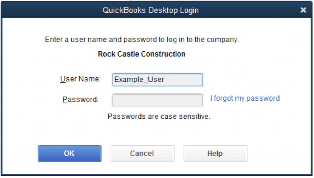how to change quickbooks password