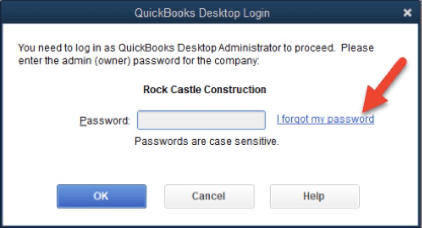 how to change password in quickbooks