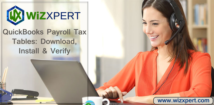 QuickBooks Payroll Tax Tables Download Install Verify