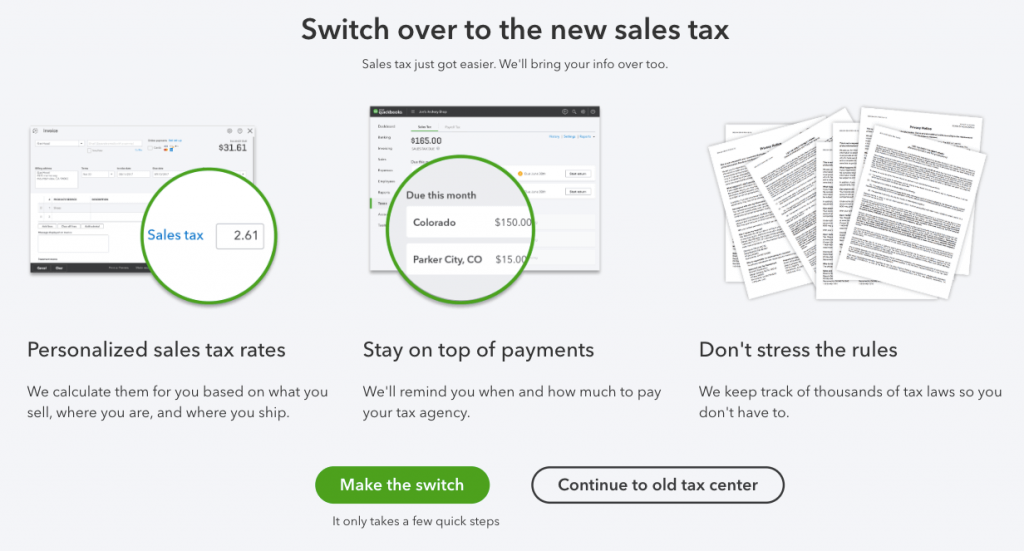 switch over to the new sales tax