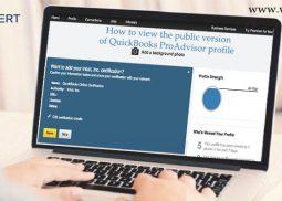 How to view the public version of QuickBooks ProAdvisor profile?
