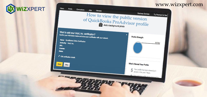 How to view the public version of QuickBooks ProAdvisor profile?