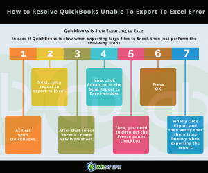 How to Resolve QuickBooks Unable To Export To Excel Error