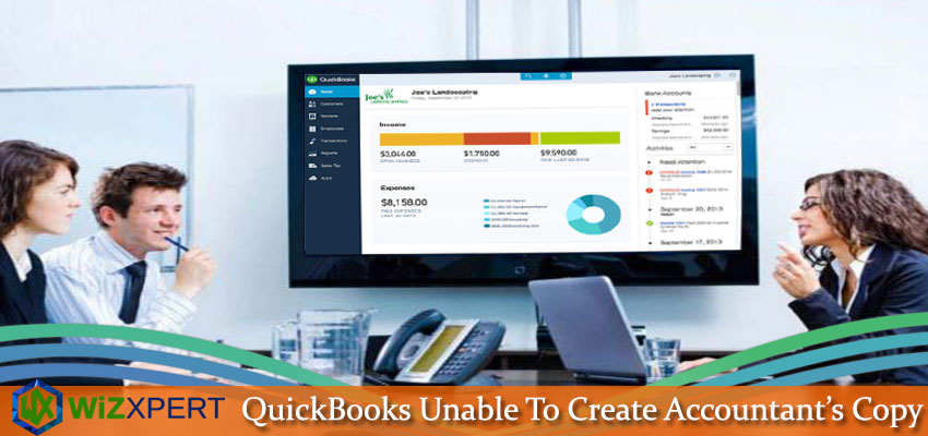 QuickBooks Unable To Create Accountant   s Copy