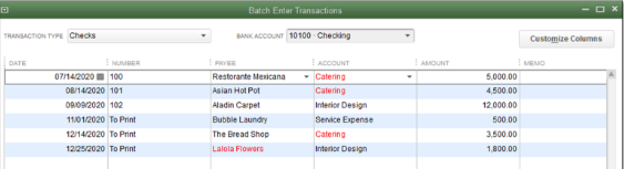 Enter & Delete Transactions by Batch in QuickBooks 2018 [Pro