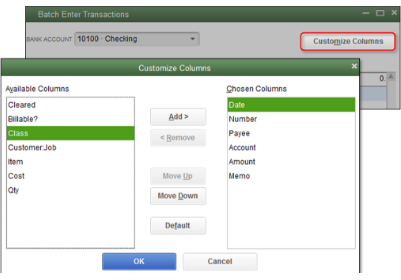Enter and delete transactions by batch in QuickBooks Desktop.