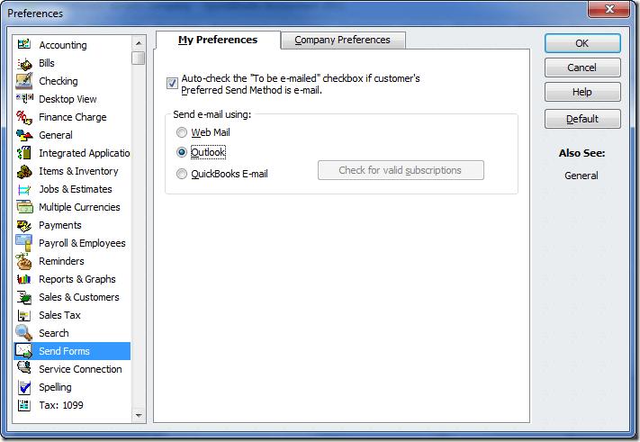 set up QuickBooks Email Service on QuickBooks Desktop