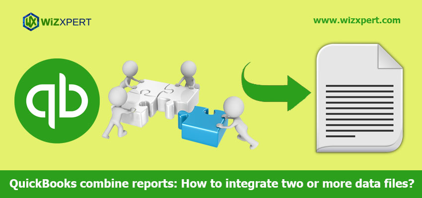 QuickBooks combine reports: How to integrate two or more data files?