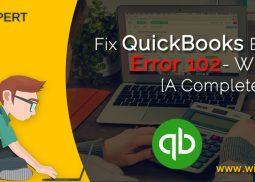 Fix QuickBooks Banking Error 102- Wizxpert [A Complete Guide]