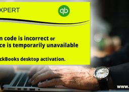 Fix validation code is incorrect or the service is a temporarily unavailable error during QuickBooks desktop activation.