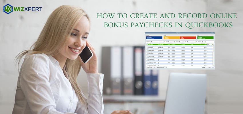 How to Create and record online bonus paychecks in QuickBooks